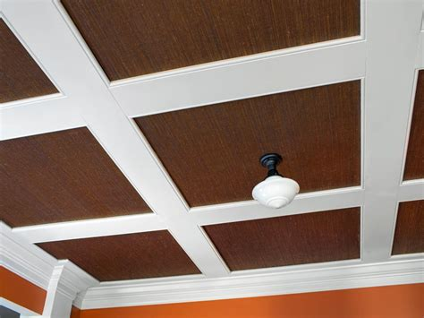 Install Coffered Ceiling by How To Install Grasscloth On A Coffered Ceiling Hgtv