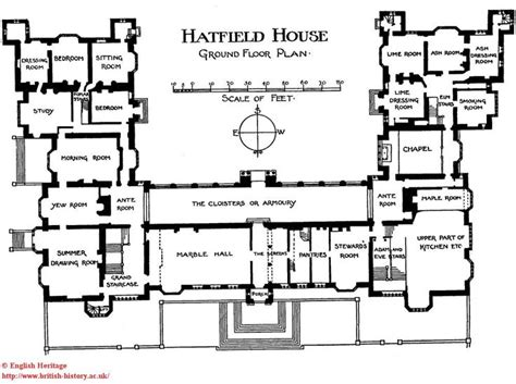 burghley house floor plan hatfield house plan of the ground floor floor plan