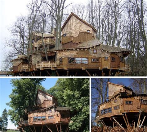 giant house plans wooden wonderland massive lofted treehouse design