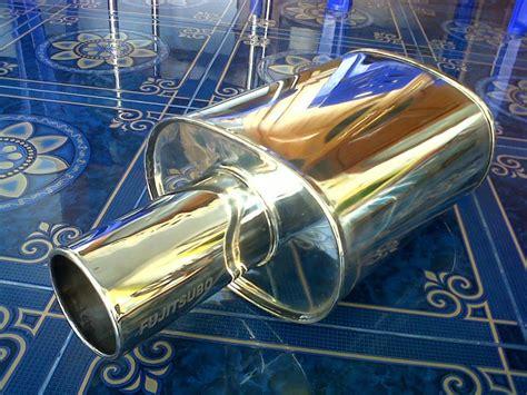 Knalpot Mobil Hks Bulat Pendek Pelangi Ngebass racing stainless pabrik knalpot racing 0878 3913 2939
