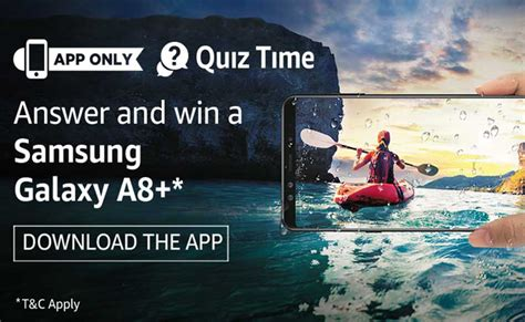 amazon quiz time answers added amazon quiz time answer win samsung