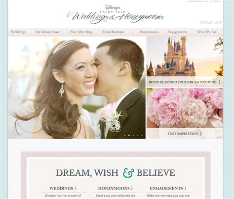 Wedding Photo Website by The New And Improved Disney S Tale Weddings Website