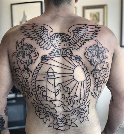 traditional back tattoos traditional back tattooed by shannon pagliarini at