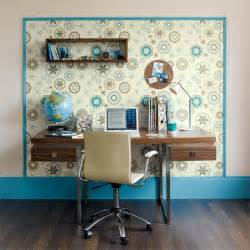 Room Wallpaper Ideas by Define A Workspace With Wallpaper Wallpaper Ideas For