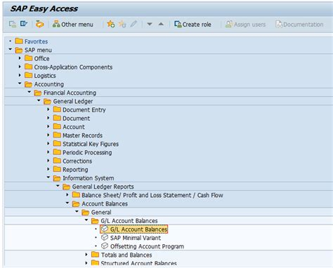general ledger sap easy access sap fi gl reporting