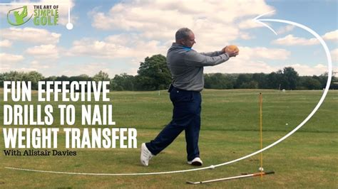 unique golf swings weight transfer golf swing drills that are unique and