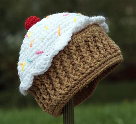 cupcake knitted hat pattern free free cupcake hat crochet patterns free crochet cupcake