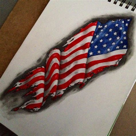 tattered american flag tattoo american flag drawings flags and