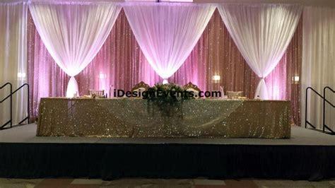 DYI Backdrop Pipe Draping Bay Area Rentals Wedding Decor