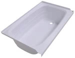 better bath 24 quot x 40 quot rv bath tub right drain white
