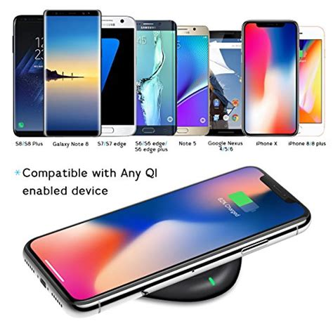 wireless charger yootech qi certified wireless charging pad compatible iphone xs max xr xs x