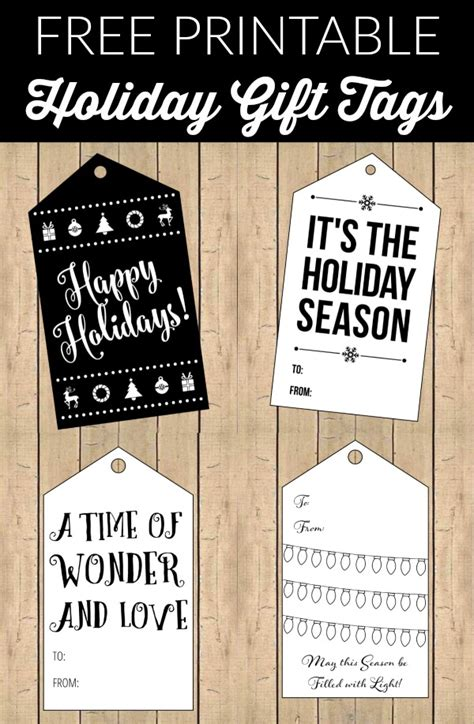 printable gift tags black and white free printable black and white holiday gift tags party