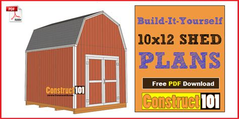 exterior gambrel roof shed plans free and gambrel roofing shed plans 10x12 gambrel shed construct101