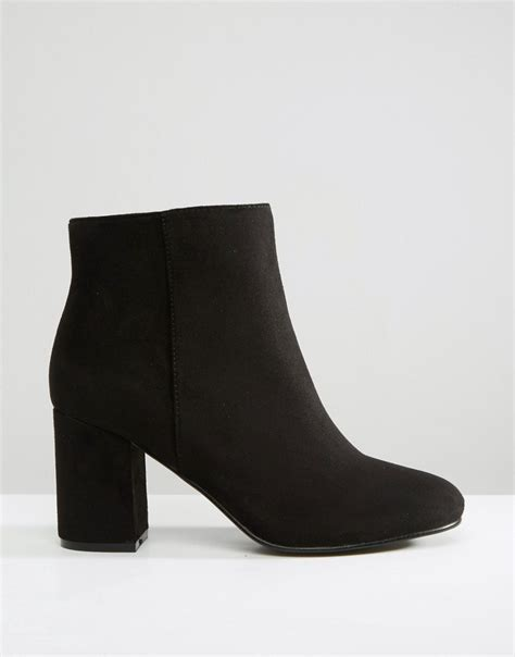 asos asos rosaline heeled ankle boots at asos