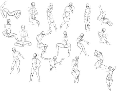 1 Minute Pose Sketches by Quickposes 20 Minute Gesture Drawing By Tangnamoo On