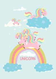 theme line unicorn unicorn and blue sky line theme line store
