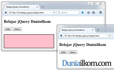 tutorial php dan jquery contoh cara membuat efek show dan hide html dengan jquery