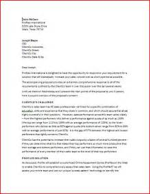 Executive Summary Cover Letter by Sle Business Letter