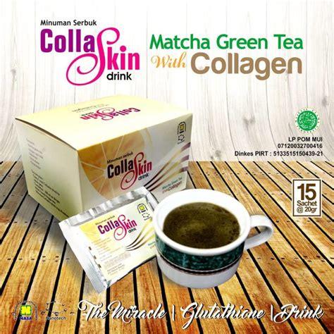 Teh Collaskin awet muda dan langsing alami dengan collagen matcha green