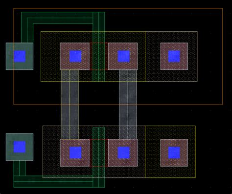 layout exles of inverter nand and nor nor gate layout images frompo 1