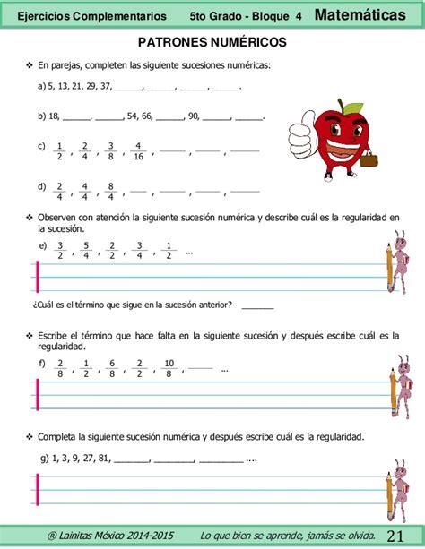 ejercicios complementarios 5to grado bloque 4 matematicas con respuestas 5to grado bloque 4 ejercicios complementarios