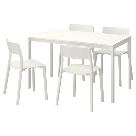 melltorp janinge table and 4 chairs white white 125 cm ikea