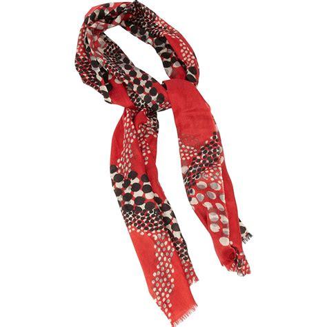 beautiful bias dot print scarf for
