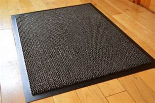 Non Slip Runner Rug Carpet Runner Non Slip Stopper Rug Runners Door Mat 60cm X 80cm Black