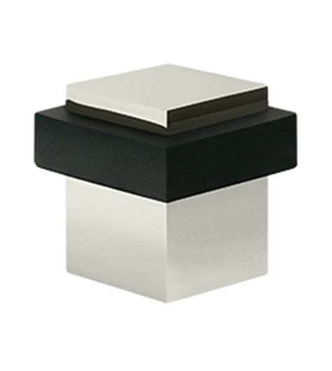 solid brass modern square door stop doorware