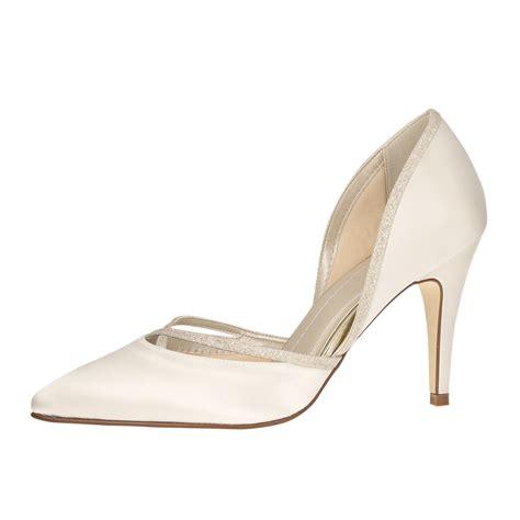 quot ivory satin glitter quot elegante satin pumps