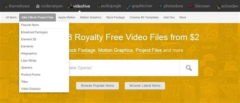 after effects free templates sites list of websites that offers after effects templates
