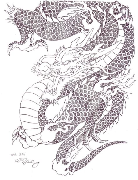 traditional japanese dragon tattoo japanese by zell381 on deviantart
