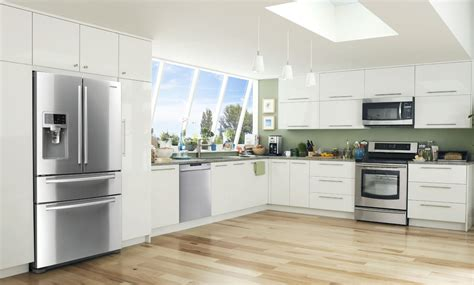 samsung unveils three new built in kitchen appliance samsung four door refrigerator video tour rf4287hars