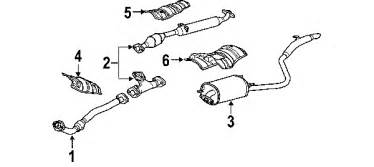 2004 Toyota Exhaust System Diagram Parts 174 Toyota Exhaust Components Oem Parts