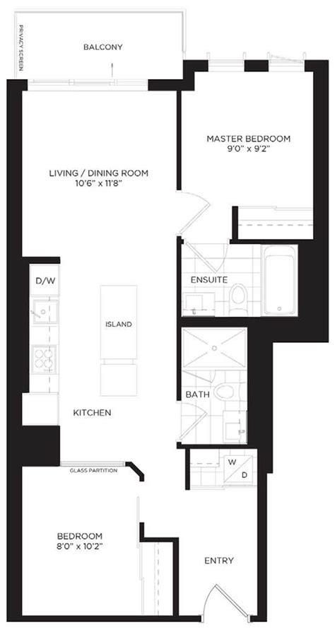10 Park Blvd Floor Plan by 2108 55 Regent Park Blvd City Views At Opp