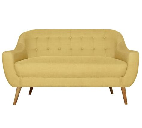 Argos Nursery Furniture buy hygena lexie retro 2 seater fabric sofa lemon yellow