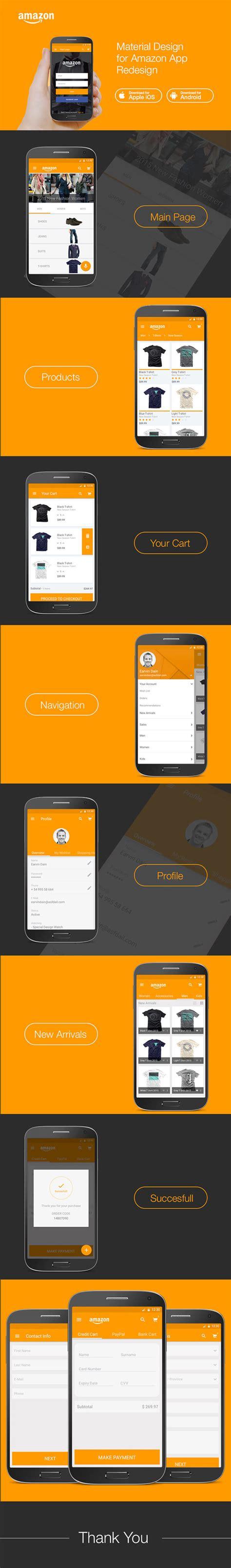 material design app mockup material design e commerce ui concept