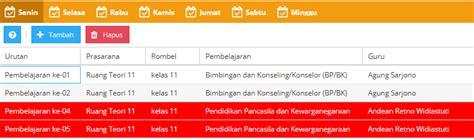 aplikasi untuk membuat jadwal kegiatan solusi membuat jadwal pelajaran di dapodik 2018