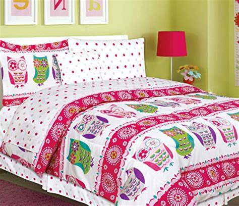 tween bedding tween bedding 7 owl bedding size comforter set bed in a bag with