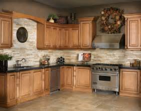 Kitchen Countertops And Backsplash Marron Cohiba Granite W Golden Gate Stackstone Backsplash
