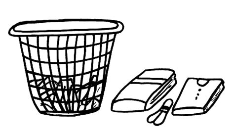 laundry colouring pages