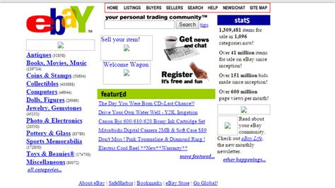 Buy Your Own Time Machine On Ebay by How Your Favourite Websites Used To Look Bt