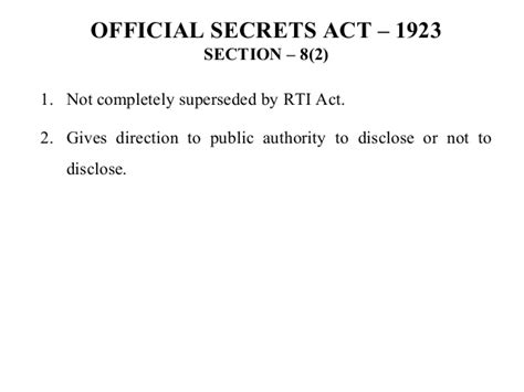 rti section 8 rti act 2005 part iii