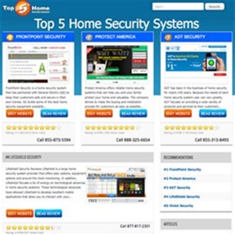 top 5 home security systems website completes re