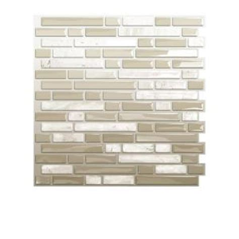 smart tiles 10 00 in x 10 06 in peel and stick mosaic