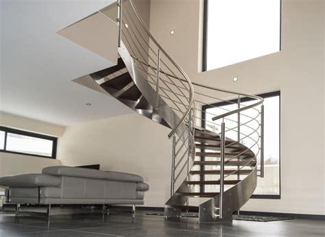 escalier h 233 lico 239 dal inox design int 233 rieur contemporain