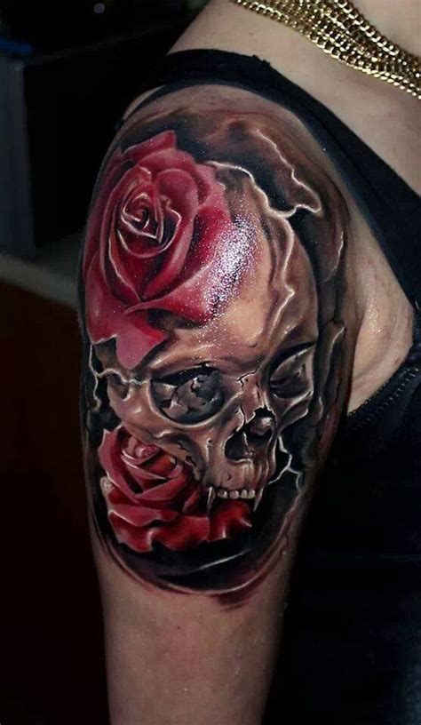 tattoo design rose and skull skull and roses tattoos designs ideas and meaning