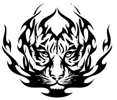 tiger with tribal tattoo tribal tiger tattoos 03 1 png clipart panda free