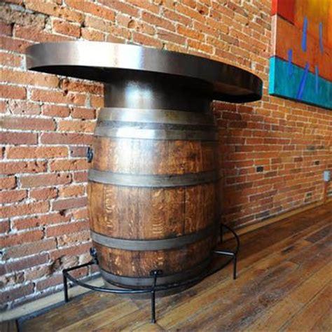 half wine barrel table the oak barrel company half wine barrel bistro table