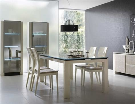 Modern White Dining Room Contemporary Dining Room Sets For Beloved Family Traba Homes